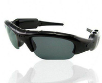 Wholesale Dv Dvr Spy Sun Glasses - New Spy Sun Glasses Camera Audio Video Recorder DV DVR Mini Spy Sunglasses Camera Audio Video