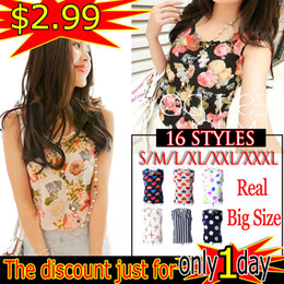 2019 tropische blumendrucke Wholesale- Weibliche Blusen Shirt Flower Print S-XXXL plus Größe Frauen Tops Günstige Kleidung Tropical Blusas Femininas Camisas Sommer-Shirt rabatt tropische blumendrucke