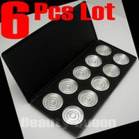 lidschatten palette pfanne großhandel-6 PC-Los NEUE 10 PC-Stück-35mm Wannen leeren Augenschminkepalette mit Wannen Size * NO magnetisch * + Free Schiff
