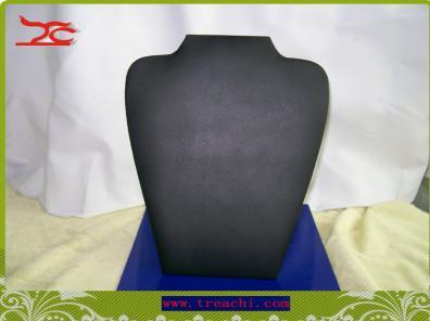 Hurtownie Naszyjnik Display Zestaw Sztalugowy 5 Black Leatherette