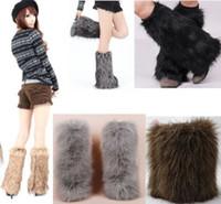 Wholesale Furry Socks - Wholesale-Ladys Furry Tassels Fur Leg Warmers Boot Cover
