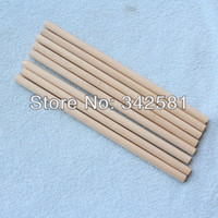 Wholesale Wholesale Wood Dowels - Wholesale-Free Shipping New Arrive 50 pcs Natural Wood Dowel Birch 6x140 mm For Holloween or DIY