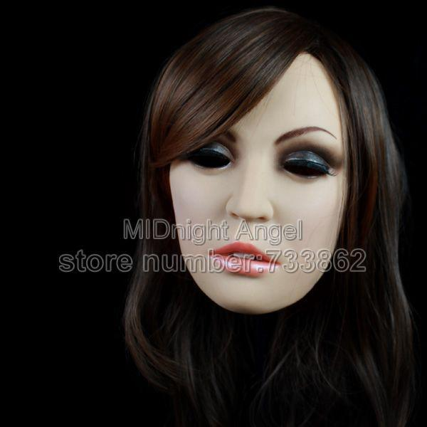 Wholesale Sh 6 Female Mask Cross Dressing Halloween Full Head Mask Realistic Mask Sissy Boy Online With 301 97 Piece On Mnyts Store Dhgate Com