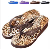 Wholesale Leopard Wedges For Women - Wholesale-2015 new sandals Woman sandals platform shoes Summer Middle Heels sandal FREE SHIPPING leopard print shoes for women whh544
