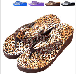 Wholesale Leopard Wedges For Women - Wholesale-2015 new sandals Woman sandals platform shoes Summer Middle Heels sandal FREE SHIPPING leopard print shoes for women whh544