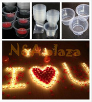 Wholesale Disposable Plastic Tea Cups - Wholesale-Windproof candle plastic Holder Clear Tea light Cups Modle disposable cup 100pcs lot for wedding party Free shipping