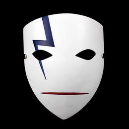Темный черный косплей онлайн-Оптовая продажа-фильм тема японская тушь для ресниц маски аниме улыбка Хей ли косплей Hallowmas темнее, чем черный смолы Гром призрак Маска BK201