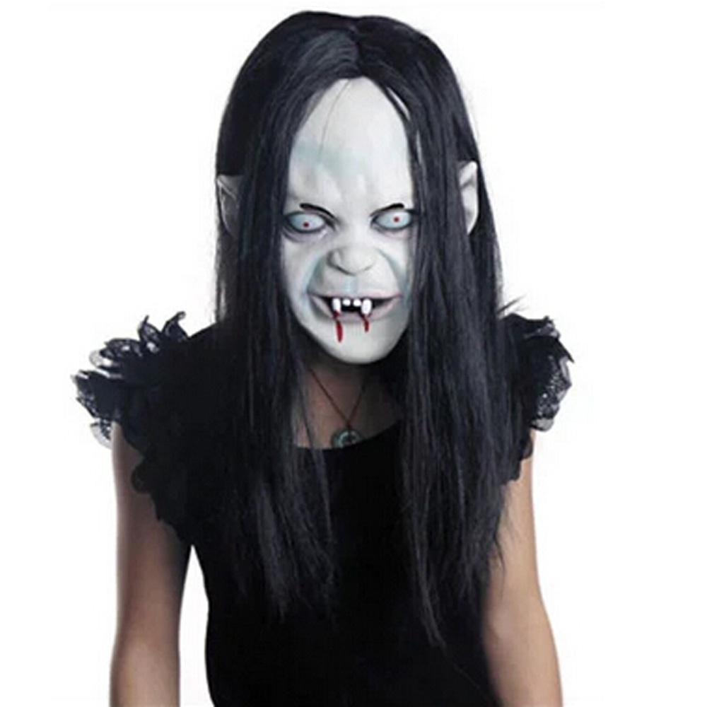 Wholesale Halloween Masquerade Party Props Black Hair Blooding ...