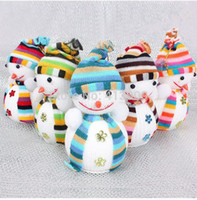 Wholesale Dolls Buy - Wholesale-Christmas gift 14 * 10cm foam Scarf Snowman doll Free Shipping Buy 2, discounted 10% Wholesale