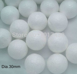 Wholesale Modelling Polystyrene Styrofoam Foam Ball - Wholesale-50pcs lot 30mm Modelling Polystyrene Styrofoam Foam Ball Sphere XMAS Ball Decor DIY