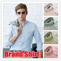 Wholesale dress shirts xxl - Wholesale-2015 new Spring men dress shirt Oxford 7color designer men's casual-shirt camisas masculinas S-XXL