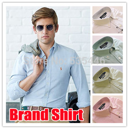 Wholesale-2015 new Spring men dress shirt Oxford 7color designer men's casual-shirt camisas masculinas S-XXL