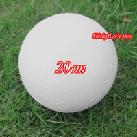 Wholesale Round Christmas Ornaments - Wholesale-We Have All Different Sized Styrofoam Balls ( 20cm) DIY White Styrofoam Craft Foam Ball Round Balls Decoration *FREE SHIPPING*