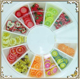 Wholesale Fimo Slice Nail Art - 3D FIMO Slice FRESH Fruit Face Nail Art Decoration