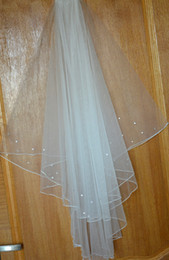 Wholesale Network Layers - Wholesale-2 layer fingertip length of rope edge USA Network crystal wedding accessories bridal veil + comb