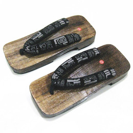 Wholesale Geta Sandals - Wholesale-MEN's GETA Japanese SAMURAI Clogs Wood Sandals Men Clogs Shoes Wooden Shoes in a Wholesale Free Shipping