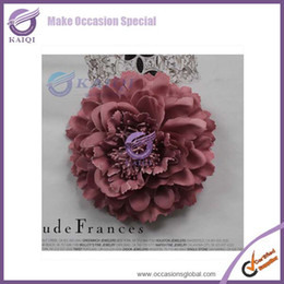 Wholesale Free Shipping 100pcs Peony Dusty Pink Colour Rose Flower 10.5cm  Big Flower For Chair Cover Wedding Party Banquet Decoration Big Pink Chair  On Sale