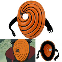 Wholesale Naruto Tobi Masks - Wholesale-Naruto Obito Anime Masks Tobi Mask Uchiha Cosplay Costume Movie Prop Replica FJKS5896(SKU40490)