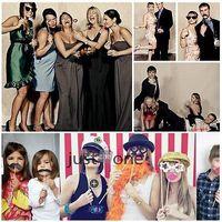 mascara de palo gracioso al por mayor-Al por mayor-58 PCS Funny Mask Bigote Stick para Photo Booth Prop Wedding Party de cumpleaños Nuevo
