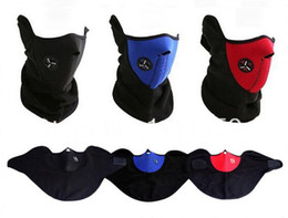 Wholesale Winter Half Mask - Wholesale-New Three color Outdoor Sport Mask Winter Ski Mask Warm Half Face Mask For Cycling Sport For Promotion Face Mask Bicycle Scarf