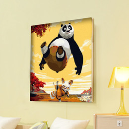 Wholesale Diy Paint Numbers - Wholesale-Home decoration diy digital oil painting by numbers handpainted oil painting on canvas 30*40-kungfu panda