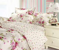 Wholesale Elegant Girl Bedding Sets - Wholesale-Romantic American Country Style Girls Vintage Floral Bedding Set Elegant Girls Bedding Set Full Size Designer Fairy Bedding Sets