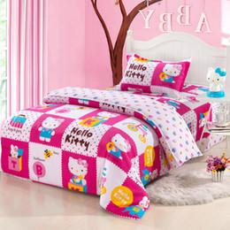 2019 ragazze rosa set di comforter rosa All'ingrosso-cotone puro hellokitty cartoon bambini biancheria da letto trapunta trapunta tre pezzi di 1,2 metri di fogli