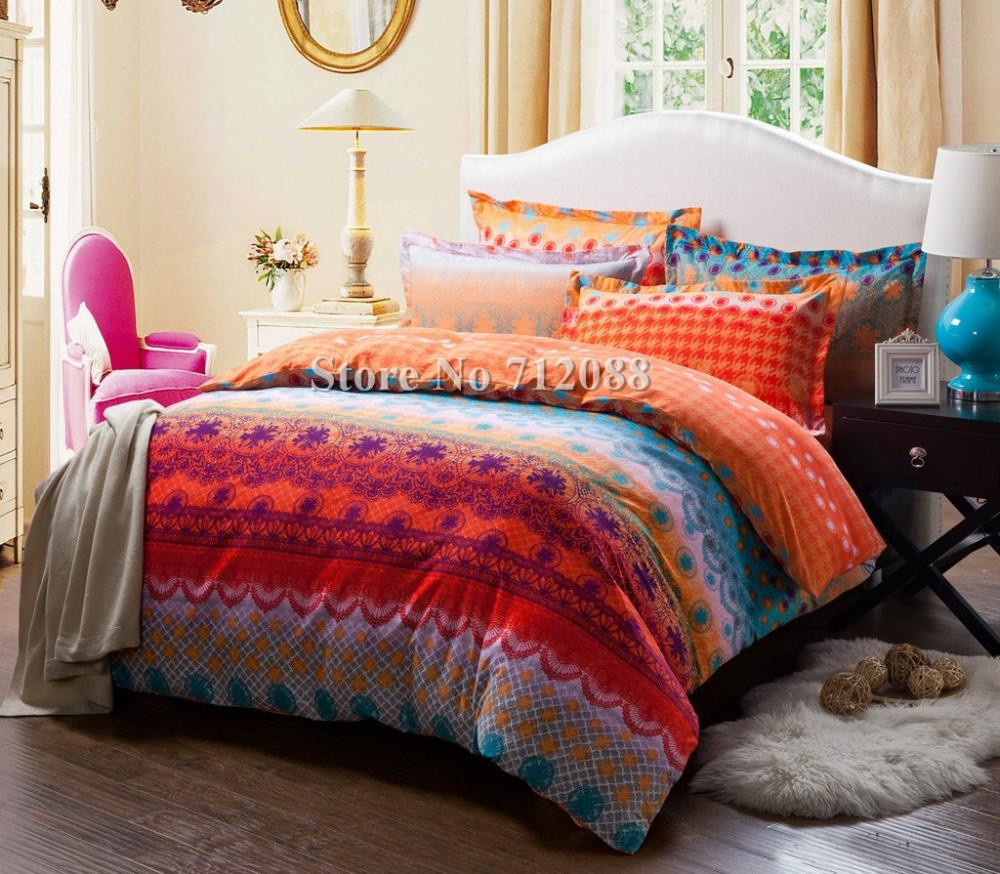 orange comforter king set full pin queen pleat emerson pinched