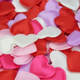 Wholesale Silk Heart Petals - Wholesale-Free Shipping, 500pcs lot Heart Silk Petals Wedding Decoration Supplies Petals Favors Drop Shipping, WQ0001