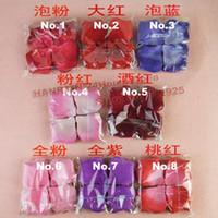 Wholesale Silk Heart Petals - Wholesale-Hot sale 1152pcs lot nice 8 colors heart silk rose petals wedding petals favors+china post Free shipping