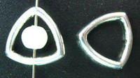 Wholesale Tiny Silver Beads - 200PCS Alloy Metal Tibetan silver tiny triangle bead frame A5147