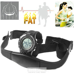 Wholesale Heart Rate Chest - Wholesale-Pulse Calories Wireless Heart Rate Monitor watch Sports Fitness WristWatch Chest Strap Healthy sale 2015 New relogio masculino