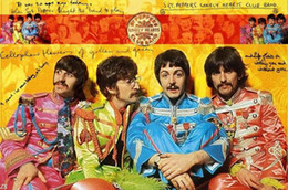 Wholesale Music Canvas Pictures - Wholesale-The Beatles Picture Silk Canvas Posters HD Large Modern Bedroom Home Decoration Pop Music signer star Poster for wall 58