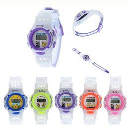 Wholesale Children Kids Cute Wrist Watch - Wholesale-New Arrival Wholesale Cute Girl Boys Children Kids Sports LED Digital Cartoon Wrist Watches Silicone strap Gifts free shipping