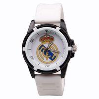 reloj sport hombre achat en gros de-Gros-Reloj Hombre Real Madrid Fans Souvenirs Hommes Mode Casual Sport Montre Silicone Quartz Montres-bracelets pour Enfants Garçons