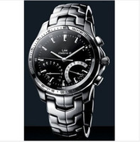 Wholesale Calibre Digital - Wholesale-free shipping calibre 17 automatic stainless steel link caliber s black dial watch mens watch