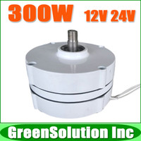 Wholesale Alternator Winding - Wholesale-Free Shipping, 300W AC12V 24V Low rpm Permanent Magnet Generator   Wind Alternator used for DIY Wind Power Turbine