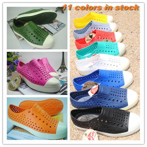 Wholesale-free shipping 2015 new Native jefferson hole summer jelly men  male women lovers casual sandals female shoes 11 colors optional bf4d0558fa28