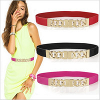 Wholesale Ladies Elegant Belts - Wholesale-waistbelts for women cintos femininos gold Candy Color belts ladies cute elegant 2015 new fashion style spring summer clothing