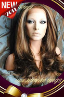 """Wholesale Piano Tie - New Gorgeous 20"""" Silky Straight #6 12 24 Lace Front Human Hair Wigs 100% Indian Remy Hair LF014"""
