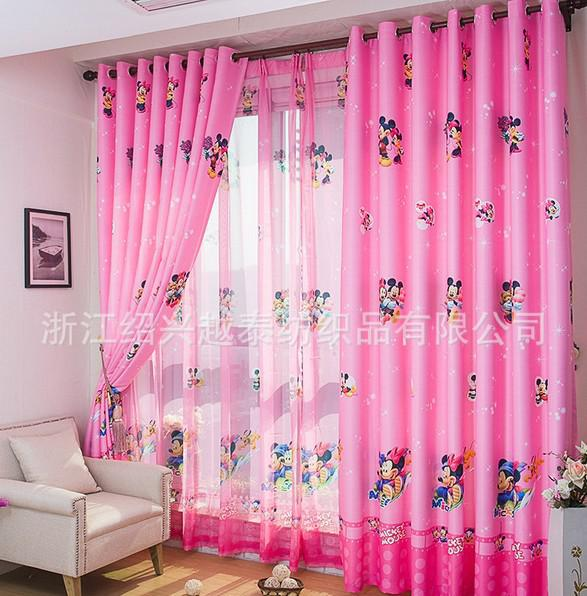 new arrival cartoon curtains for living room of children kids tulle pink blue