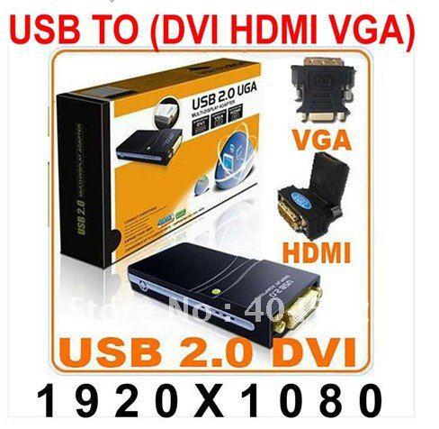 Wholesale usb 20 to dvi vga hdmi graphics adapter converter multi share on sciox Choice Image