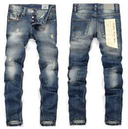Wholesale Big Man Japan - 2016 Fashion Men Jeans DL Famous Brand High Quality Big Size Ripped Jeans For Men Jeans Straight Casual Jeans