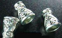 Wholesale Ornate Beads - 240Pcs Tibetan Silver ornate spiral cone bead caps A320