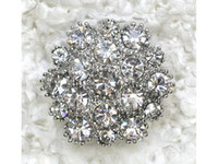 broche de diamantes de imitación claro de la boda al por mayor-Venta al por mayor CLEAR CRYSTAL RHINESTONE PIN BROOCH BRIDESMAID FLOWER GIRL WEDDING FASHION PARTY PROM BROCHES PIN JEWELRY GIFT C6640
