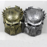 Wholesale Predator Masks - Wholesale-Predator Mask PVC Cospaly Halloween Mask---Silver & Gold Color Available