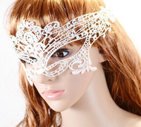 Wholesale Lace Mask Embroidery - Wholesale-Sexy Eye Butterfly Mask nightclub Party Xmas Lace embroidery cutout veil