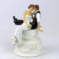 ingrosso figurina d'amore-All'ingrosso-Wedding Cake Decoration Nuovo The Look of Love sposa e sposo coppia figurina torta nuziale topper