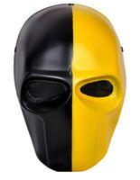 черные маски для лица оптовых-Wholesale-FMA Paintball  Wire Mesh Army of Two Biochemical Full Face Mask Black yellow