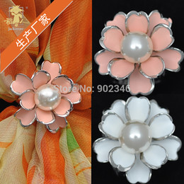 Wholesale Dress Handmade China - Wholesale-Hot-selling! H Classic cute china wholesale handmade pearl camellia jewelry scarf brooches buckle for women dresses